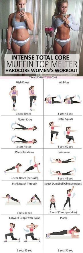 Belly Fat Workout - #womensworkout #workout #femalefitness Repinieren und teilen wenn ... - Fitness und Training