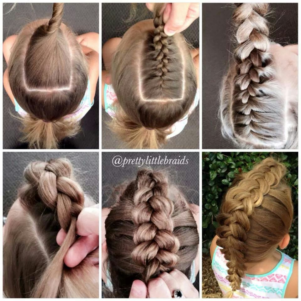 Vlecht pretty little braids Прически pinterest hair style