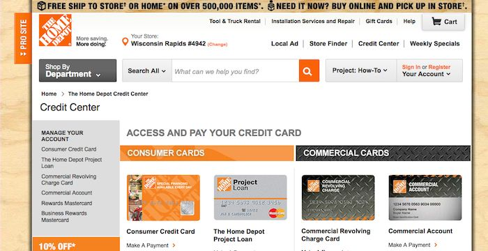 Home Depot Credit Card Login Home depot credit, Home