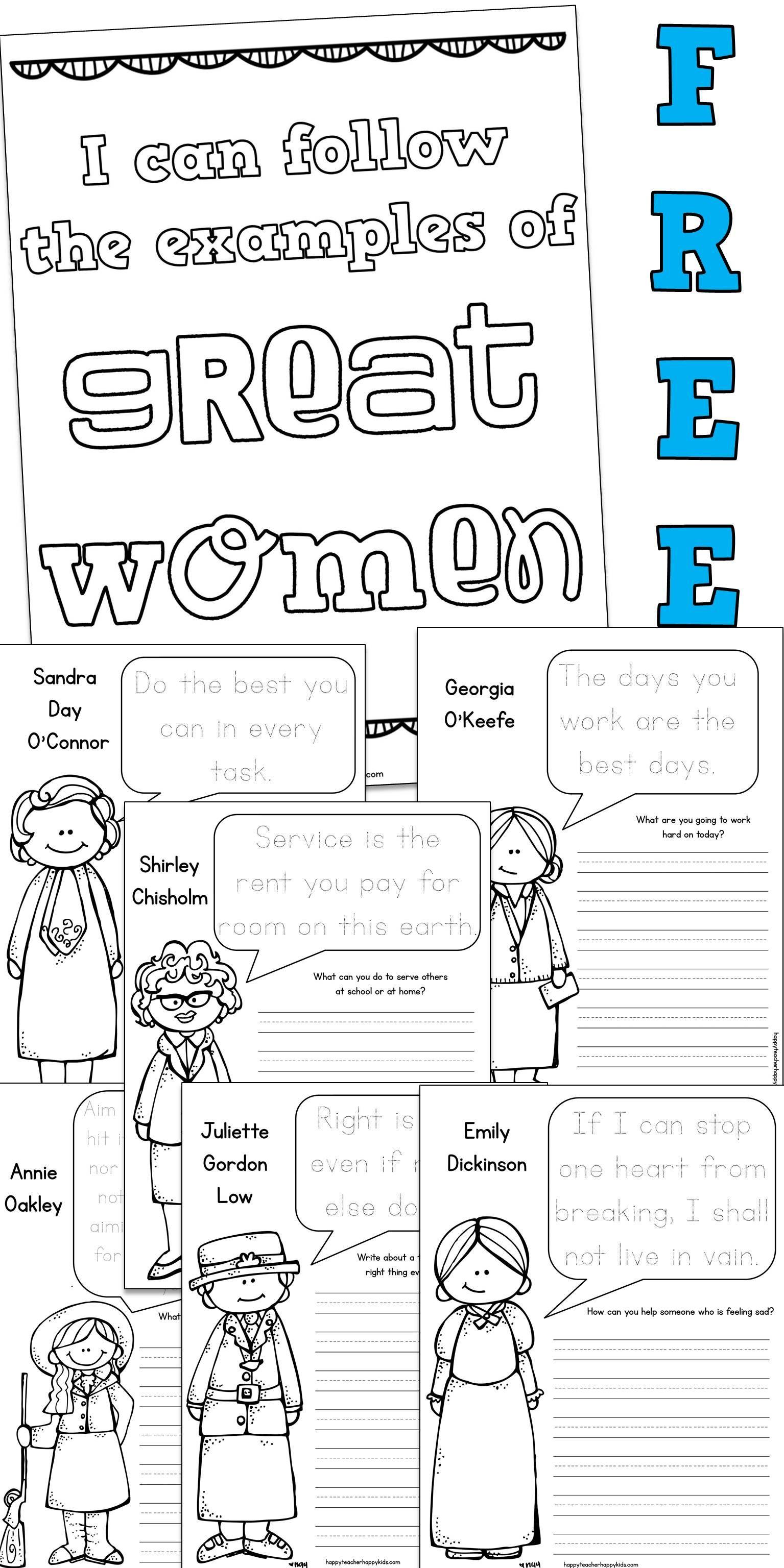 Women S History Month Writing Activities Make A Book Of Notable Quotables Writing Activities Women In History Teaching Social Studies [ 3072 x 1535 Pixel ]