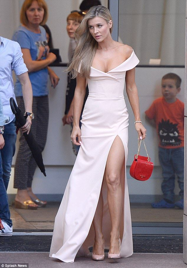 Princess:Joanna Krupa put on a fairytale appearance as she stepped out in Warsaw to meet the Duke and Duchess of Cambridge at a glittering party on Monday.