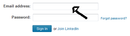 linkedin sign in step 1