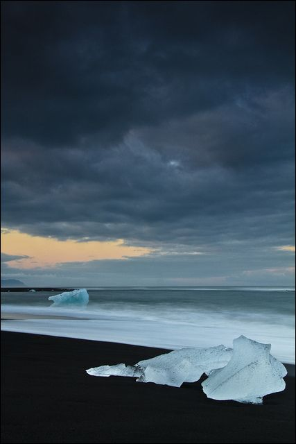 Ice beach, Jokulsarlon, Iceland - I've never been there but am in love with that vulcanic, icy, wonderful island...