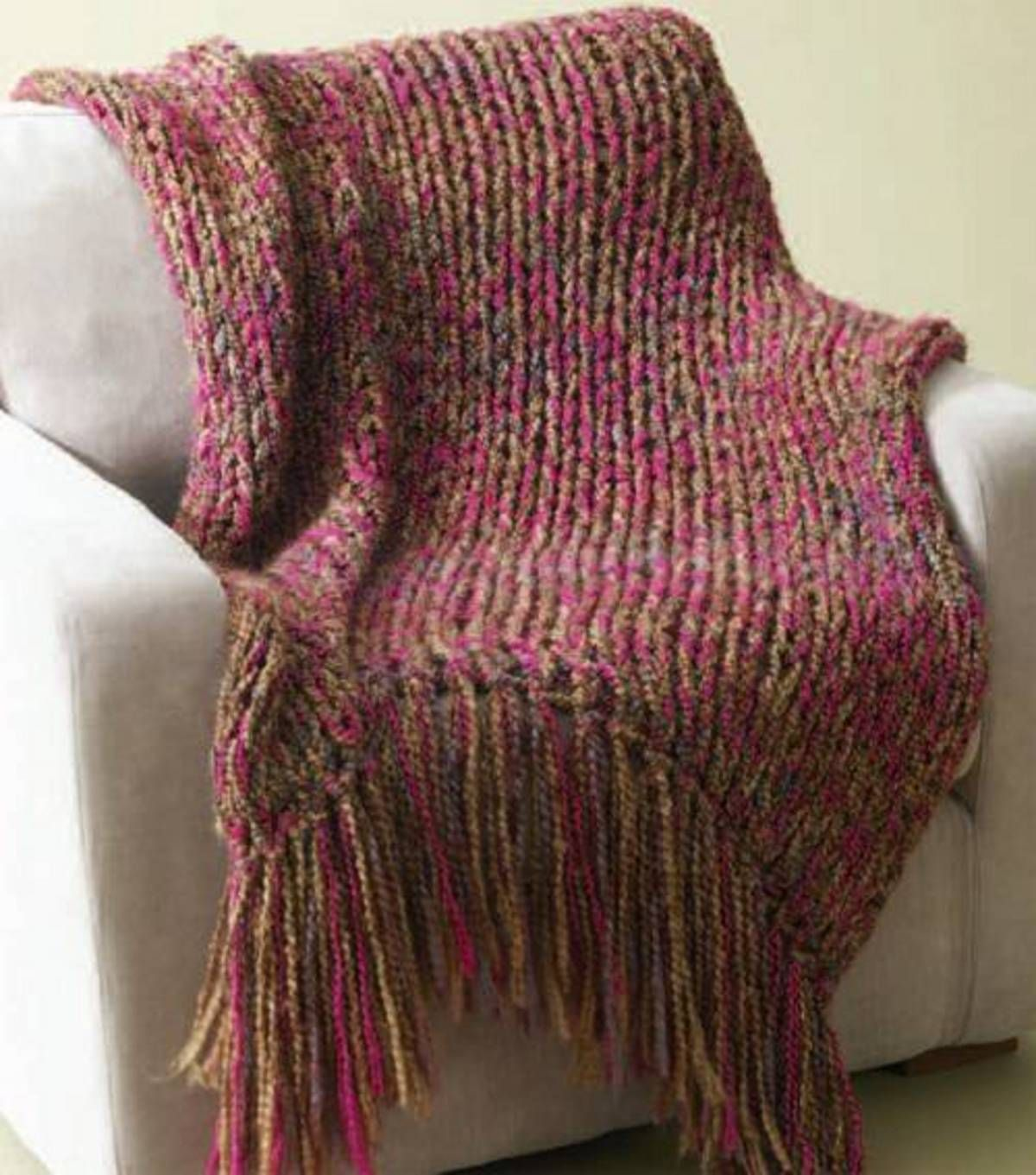 Lion Brand Homespun 6-Hour Throw.34x54 in. not including fringe ...