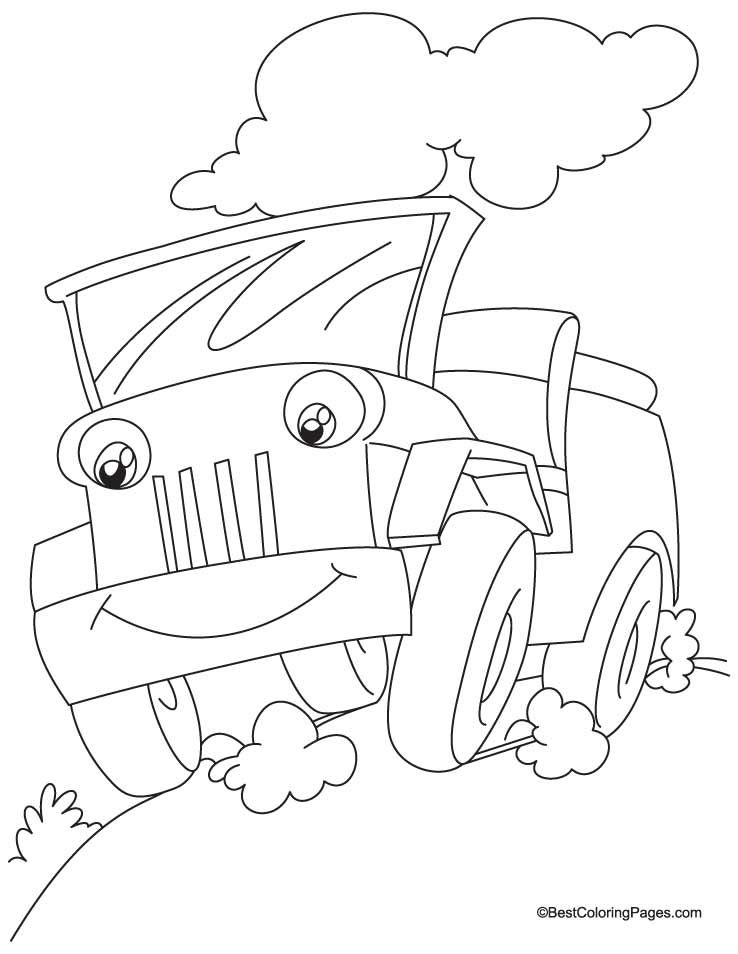 A Jeep Coloring Pages Download Free A Jeep Coloring Pages For Army Tank Happy Birthday Coloring Page