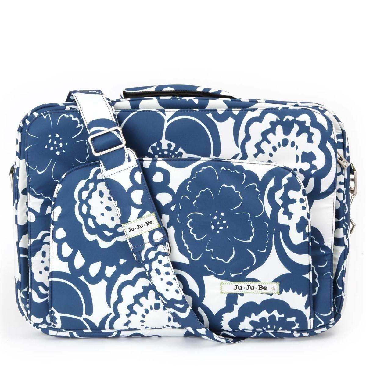 Cobalt Blossom Giga Be Laptop Carrying Case Blue White