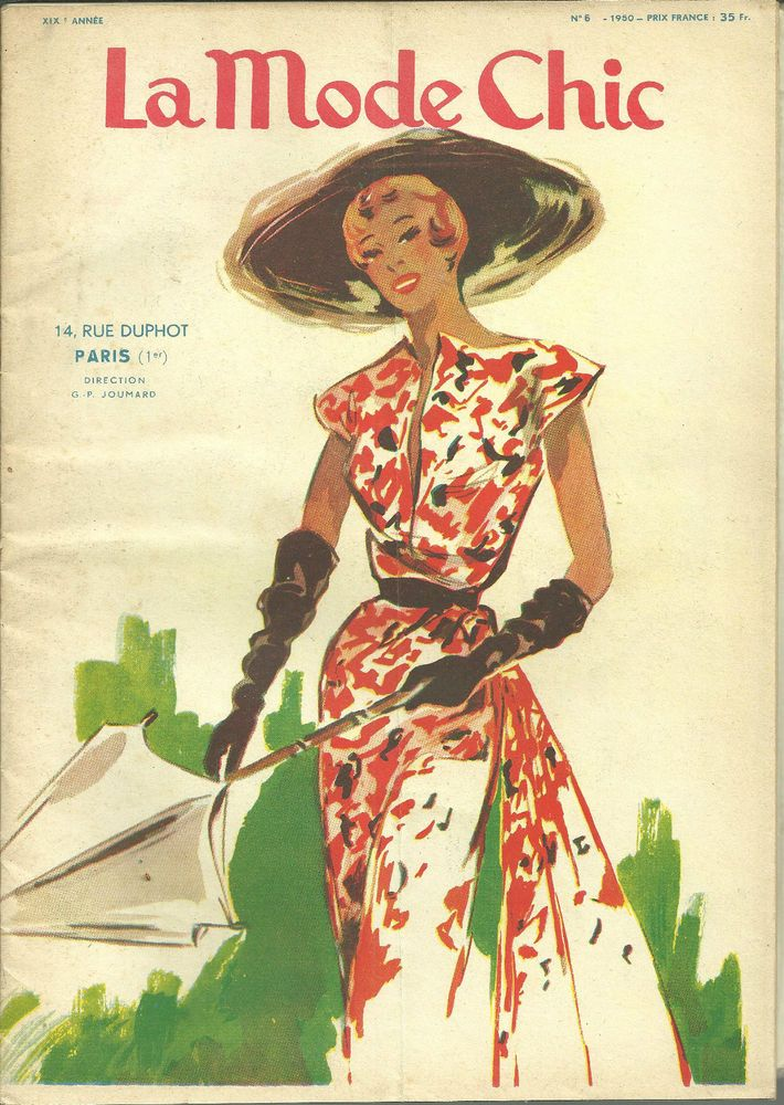 La Mode Chic, revue, magazine, N° 6, 1950, fashion