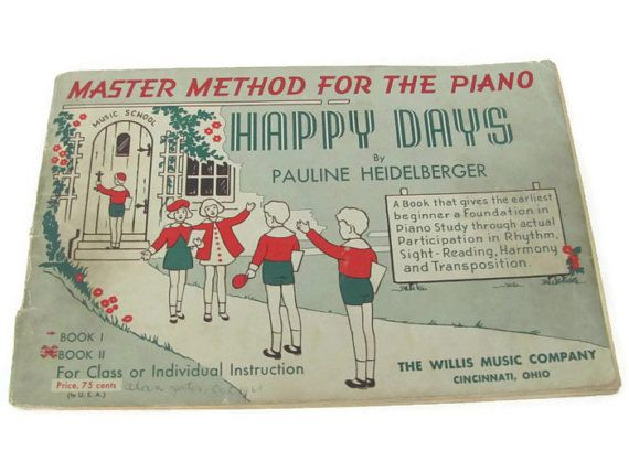 Vintage Piano Music Book 1940's Piano by ThirstyOwlVintage