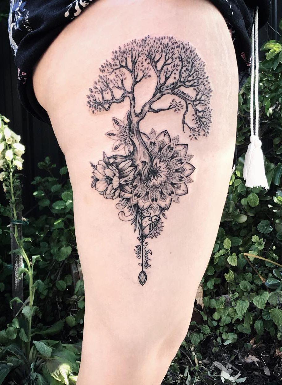 Awesome Tree Mandala Tattoo C Tattoo Artist Mil Et Une Mandala Tattoo Design Life Tattoos Tattoos