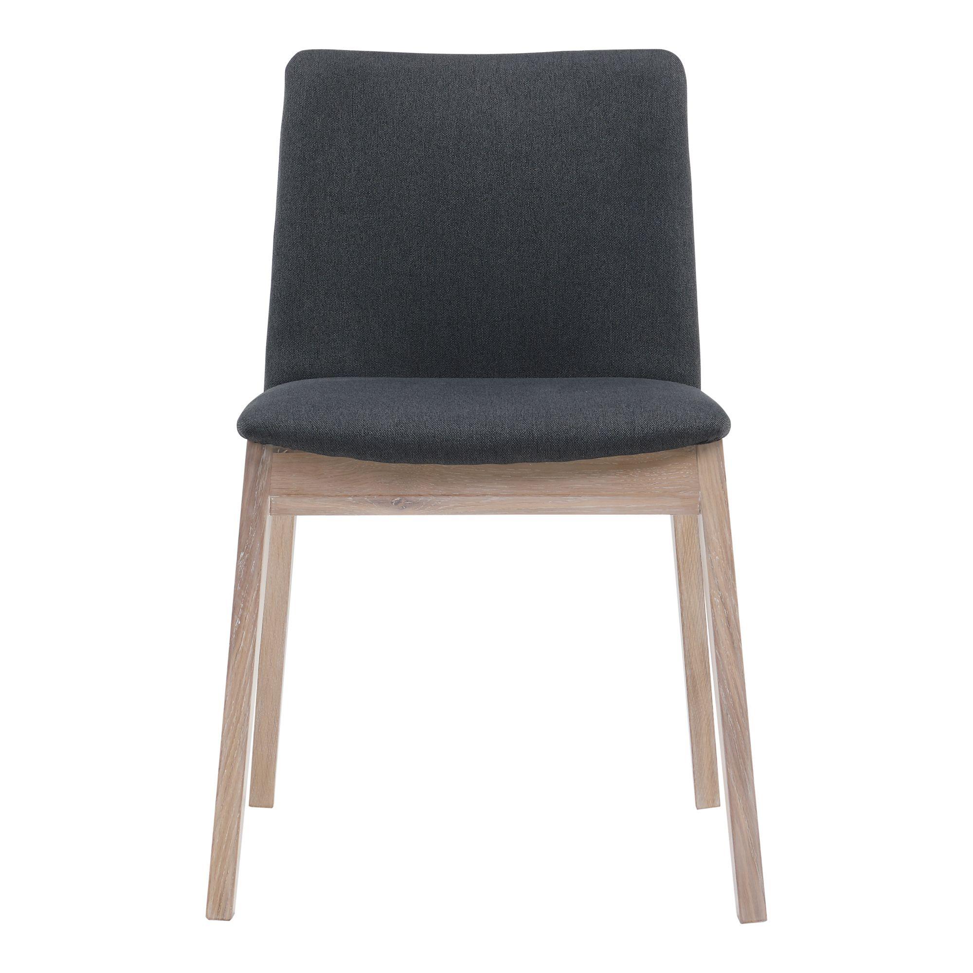 Deco Oak Dining Chair Dark Grey M2 Moe S Wholesale Dining Chairs Oak Dining Chairs Black Dining Chairs Modern
