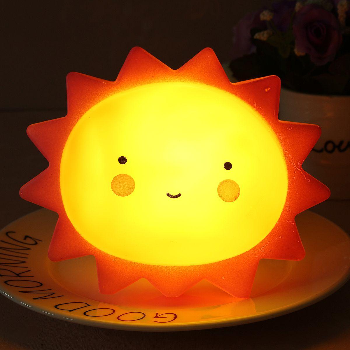 Us 7 99 Sun Shape Children Kid Baby Cute Led Night Light Lamp For Bathroom Home Decor Indoor Lighting From Lights Lighting On Banggood Com Night Light Lamp Led