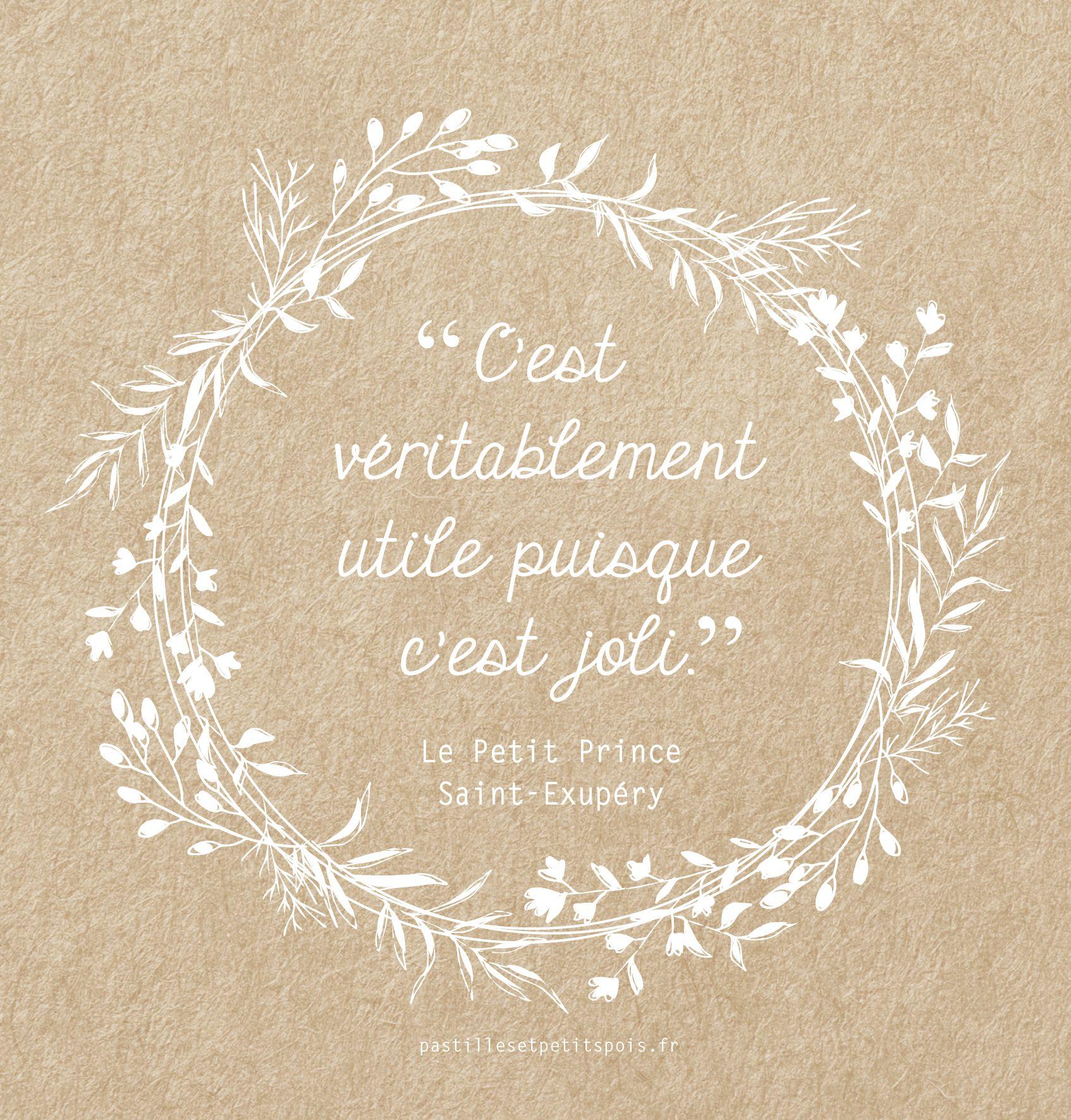 Extrem Jolie citation sur fond kraft - Le Petit Prince de Saint Exupéry  YH67