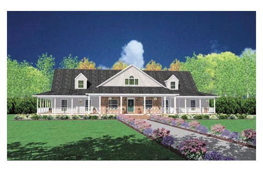Love this ranch style home with wrap around porch house for Ranch house floor plans with wrap around porch