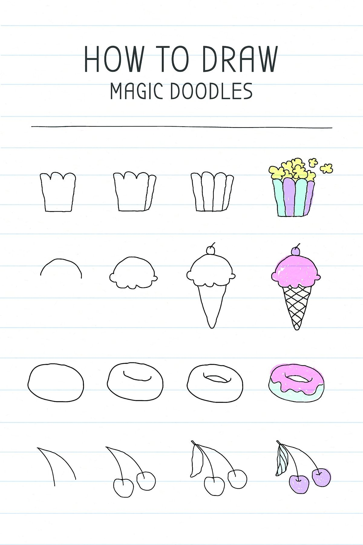 Download free vector of How to draw magic doodles tutorial  vector 2430376
