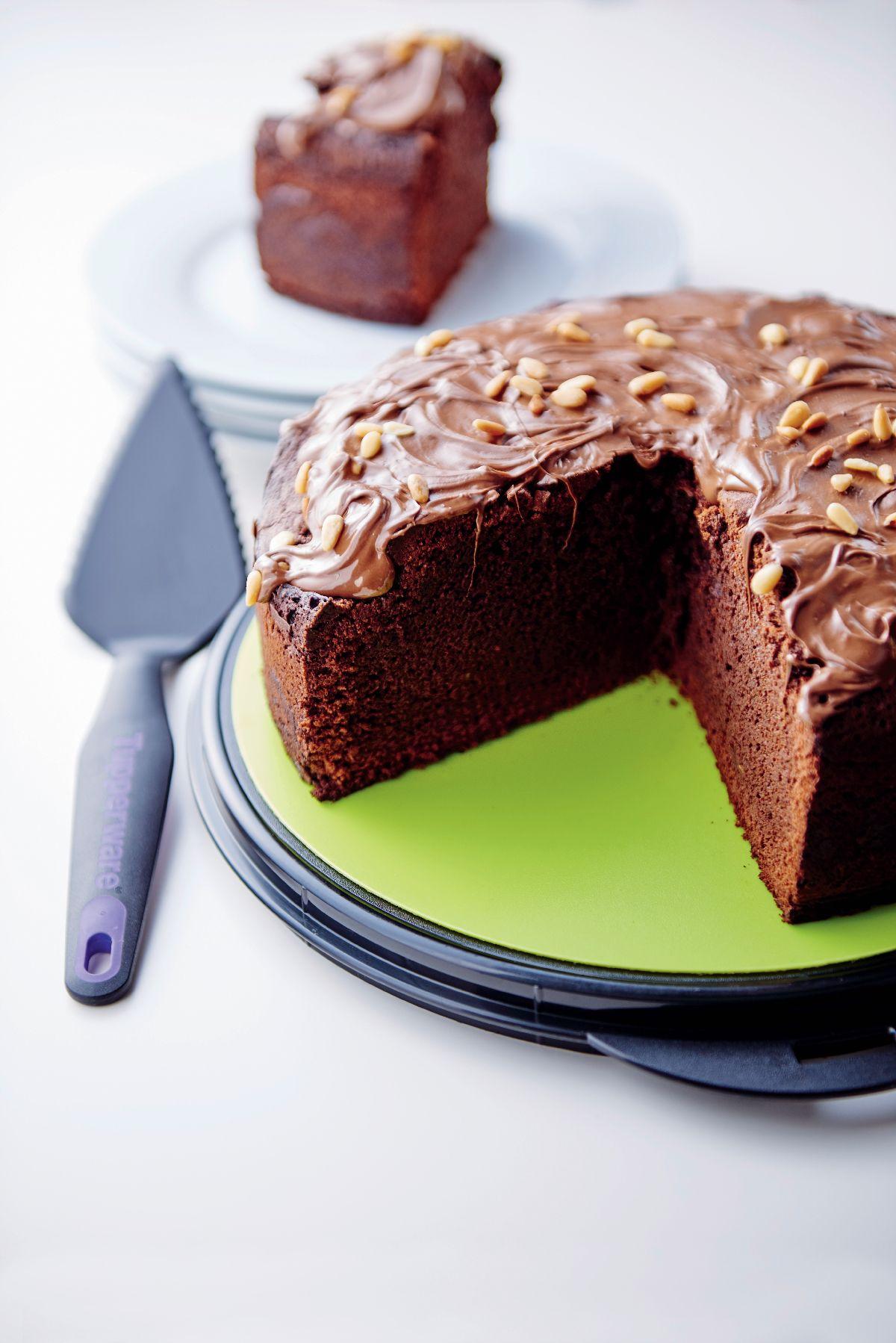 Chocolate cake for dessert yes please tupperware