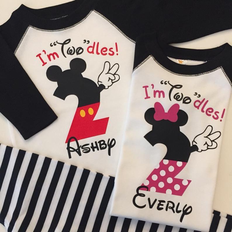 Im twodles birthday mickey birthday shirt two year old