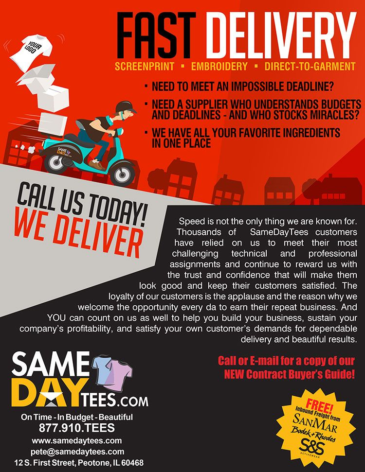 f76ad3fc Screen Printing Services from Same Day Tees | Promotional Product ...