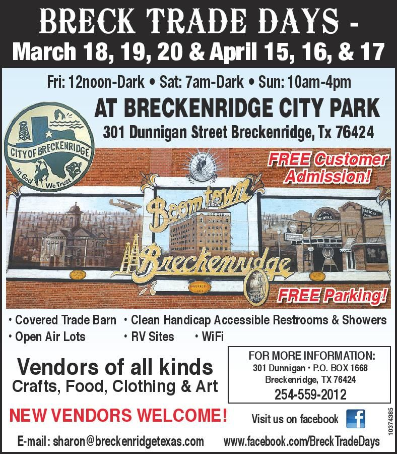 Breck Trade Days Breckenridge Tx 3rd Weekend Each Month In