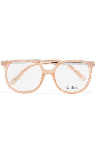 1f004c1c167 Chloé - Myrte Square-frame Acetate And Gold-tone Optical Glasses - Blush