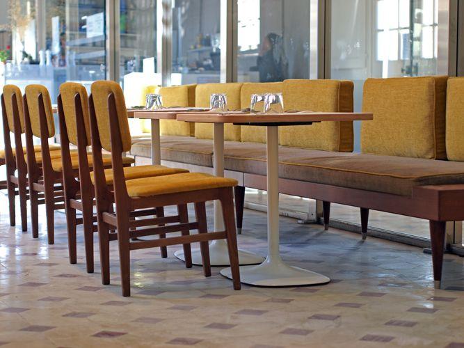 Chaise Amol Banquette Bi By Kann Cafe Borely Marseille Www Kanndesign Com Cahisevintage Vintagechair Ch Mobilier Design Meuble Design Mobilier De Salon