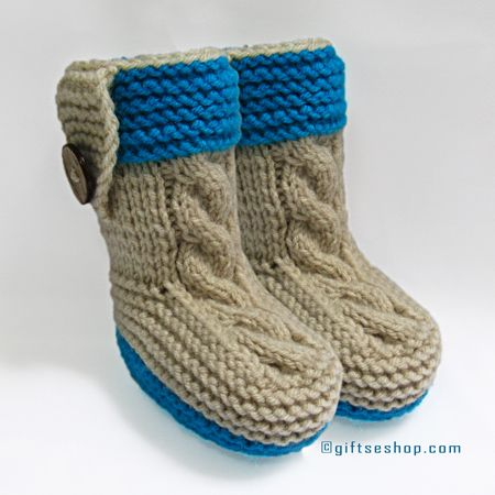 Baby Booties Knitting Pattern, pdf Knitting Pattern, Baby Boots ...