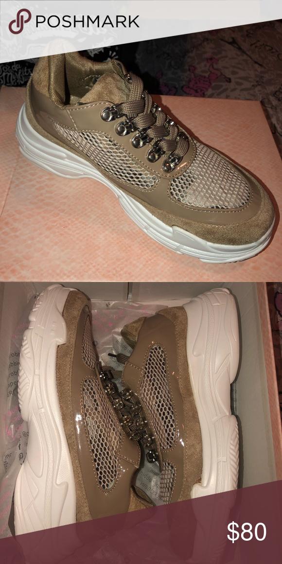 dfcfc9361e1 Cape Robbin Mocha Trendsetting Mesh Sneakers 💋 Mocha see through Mesh  Sneakers 🎀 BRAND NEW NEVER