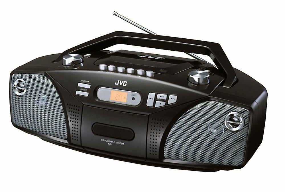 portable radio am fm jvc rcez31 with cd and cassette tecnologia de audio de ayer y hoy. Black Bedroom Furniture Sets. Home Design Ideas
