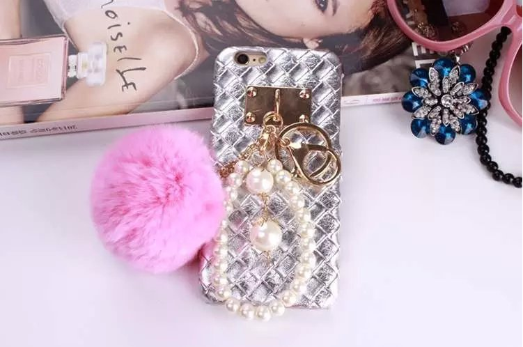 Luxury Brand New 3D Pearls Ring Holder PU Back Shell For iPhone 6 Plus/6SPlus