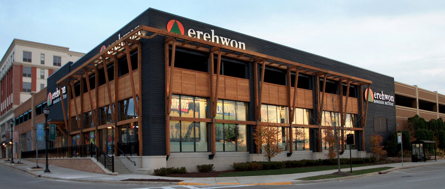Erehwon mountain outfitter retail mixed use kahler for Exterior standalone retail
