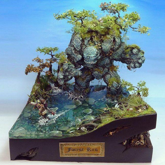 forest run diorama modeler c 39 tan scalemodel fantasy. Black Bedroom Furniture Sets. Home Design Ideas
