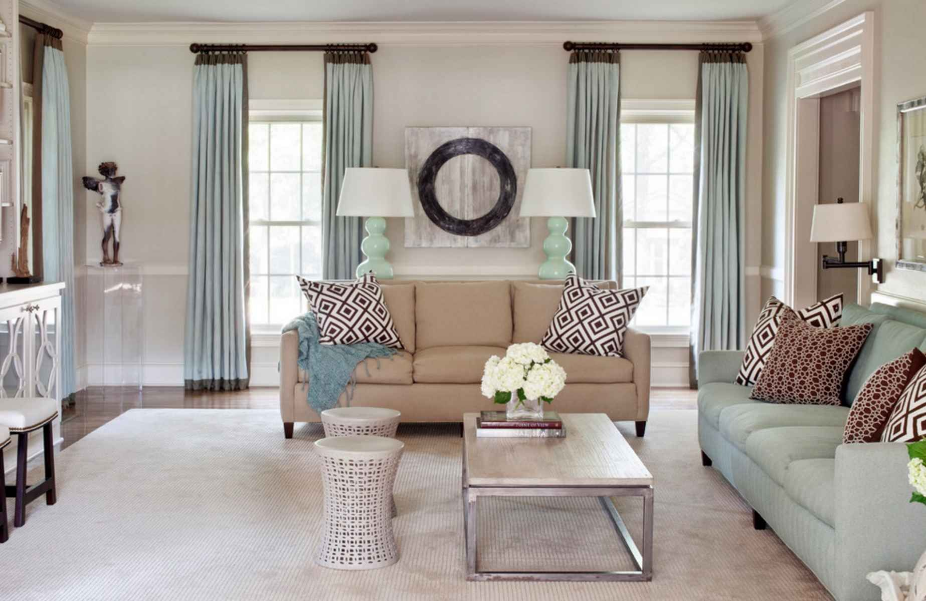 Window Treatments Light Pastel Sky Blue Silky Satin High On The Ceiling Window Curtains Window Treatments Living Room Living Room Drapes Curtains Living Room #short #window #curtains #for #living #room