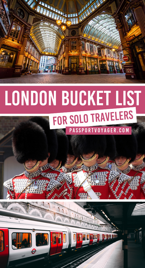 London Bucket List for Solo Travelers