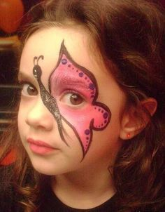 Pin By Cassidy Mcquain On Face Painting Pinterest Makeup Kids - Cara-pintada-para-halloween