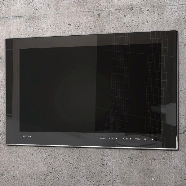 Trueshopping Waterproof Tv Black Finish Lighted Bathroom Mirror
