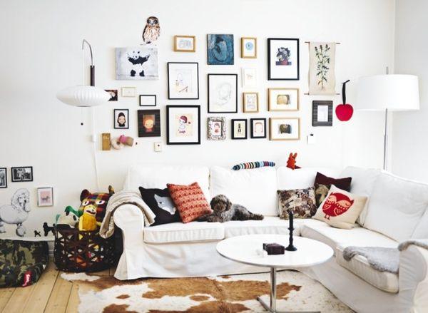 Comment agencer ses tableaux au mur ? | Salons, Decoration and ...