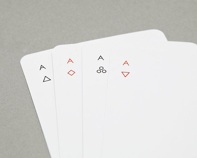 An Ultra Minimal Deck Of Cards That Keeps Poker Night Clean Playing Cards Design Minimalist Cards Card Design
