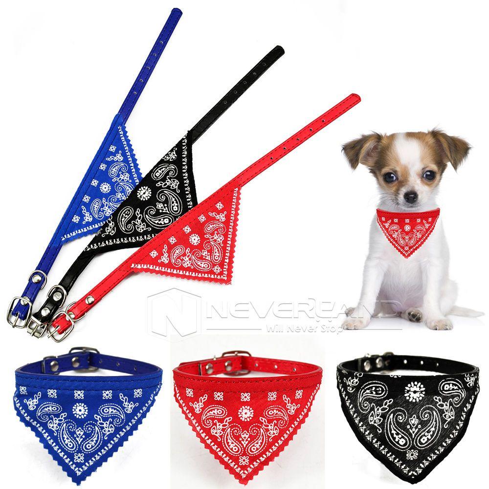 Hunde Halstuch/Halsband mit Tuch Bandana Hundehalstuch Größe M 28cm ...