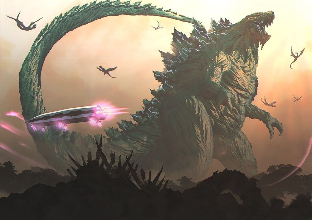 Part Of Art : Godzilla monster planet continued