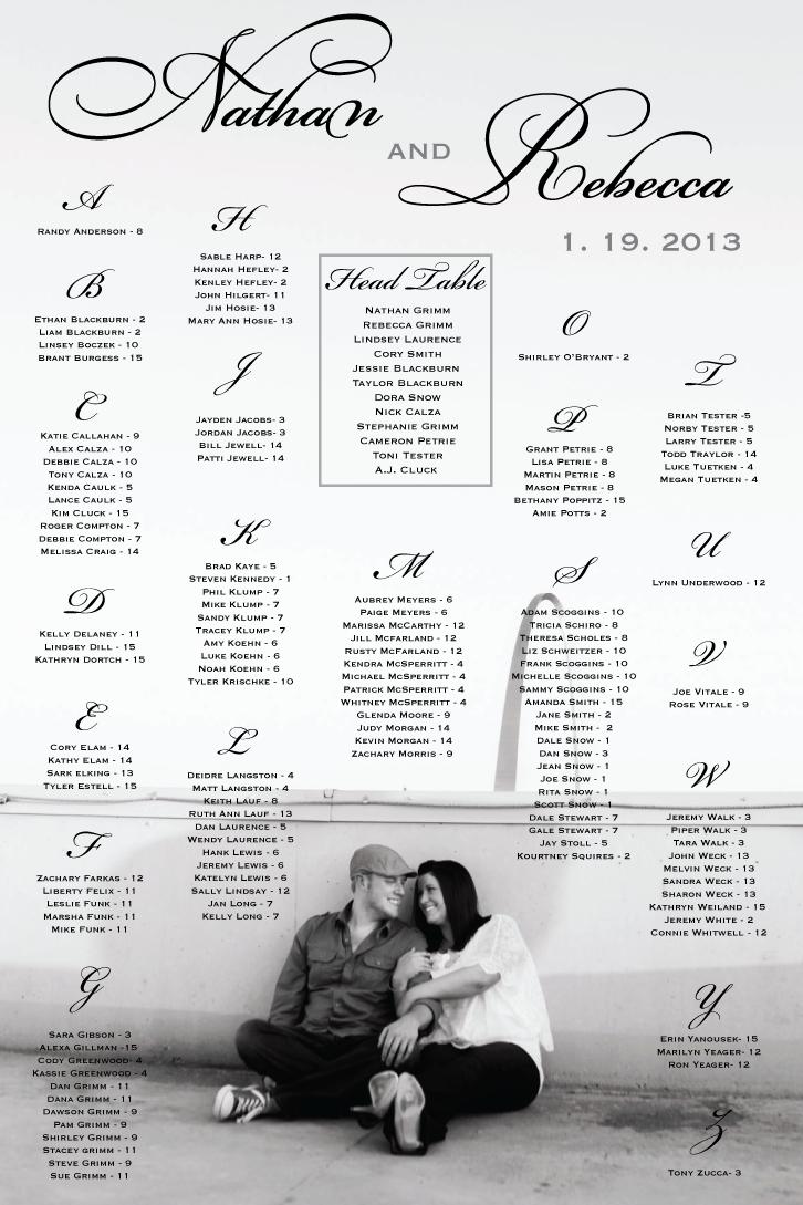 wedding seating chart seating template wedding reception ideas