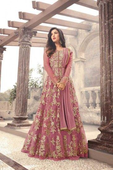 Islamic Eid Dresses 2018 - Resham Embroidered Net Newyork Pink ...