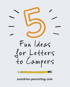 Fun Ideas For Letters To Campers  Camping Child And Camp Care
