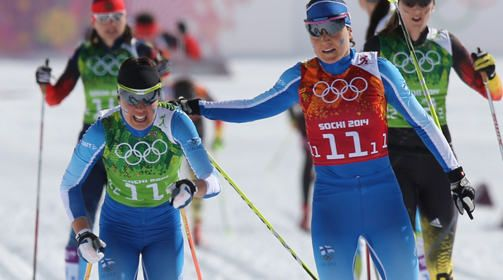 Silver for Finland , double sprint skiing