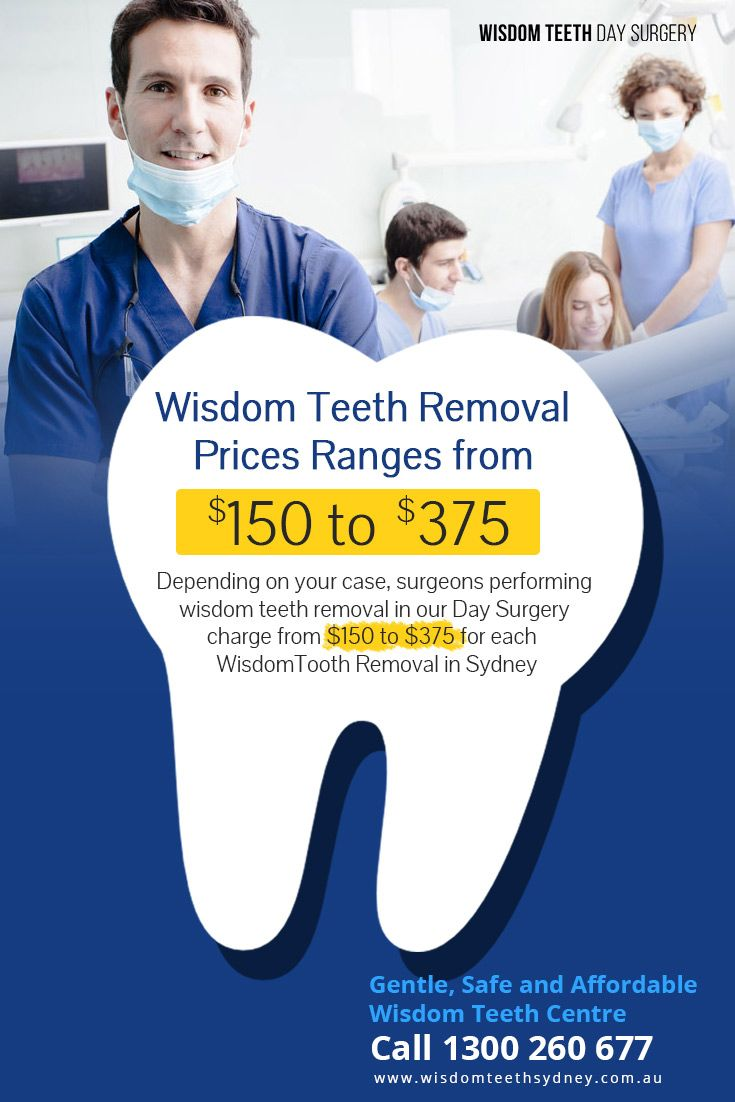 Wisdom Teeth Removal Prices Ranges from $150 to $375 ...