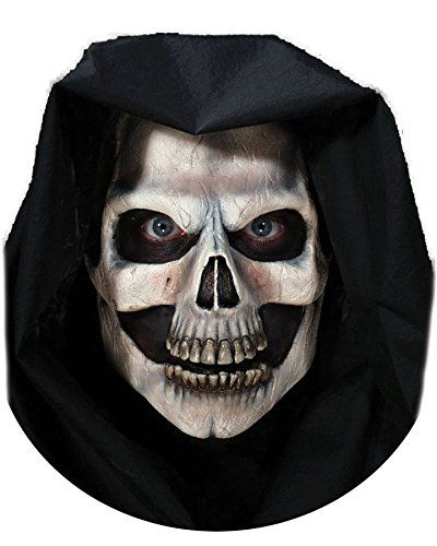 Skull Mask Foam Latex Halloween Dead Skeleton Men/'s Fancy Dress Costume