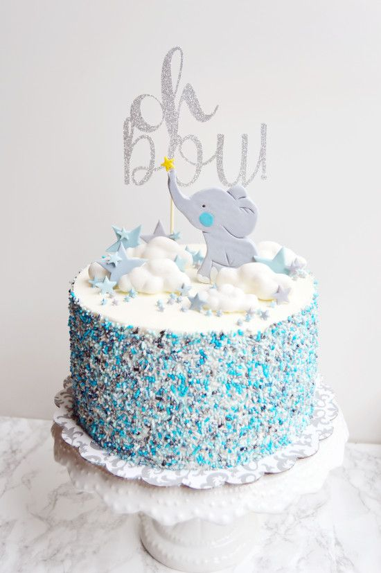 Elephant Baby Boy Cake Also Shower Cupcakes Ideas In Rh