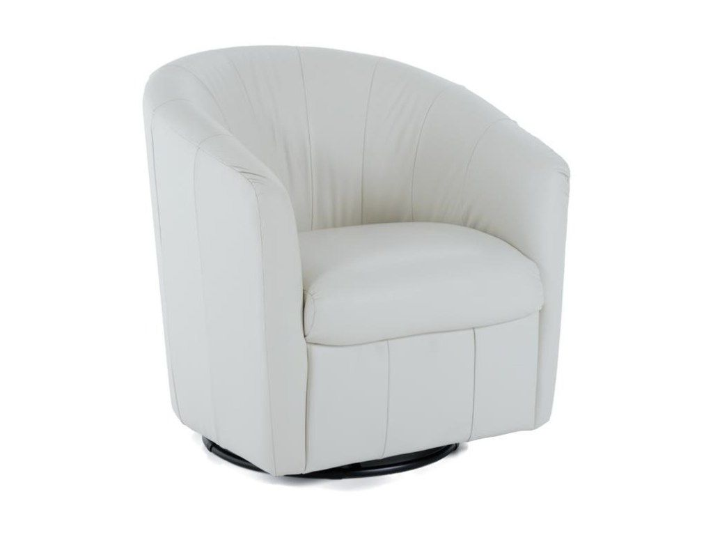 Natuzzi Swivel Chair Hide A Bed Contemporary Barrel By