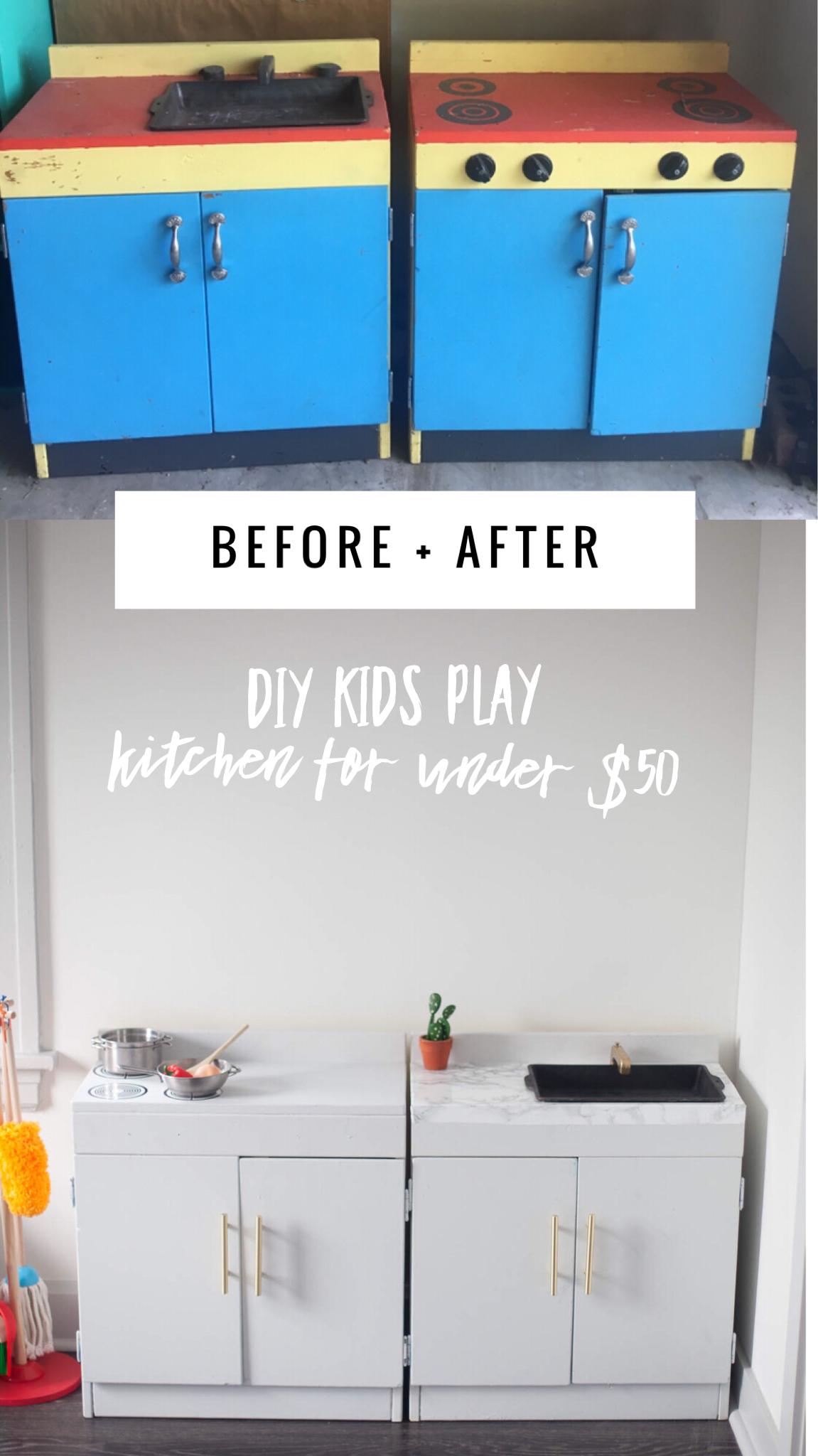 diy kids kitchen, diy kids play kitchen , play kitchen set, ikea ...