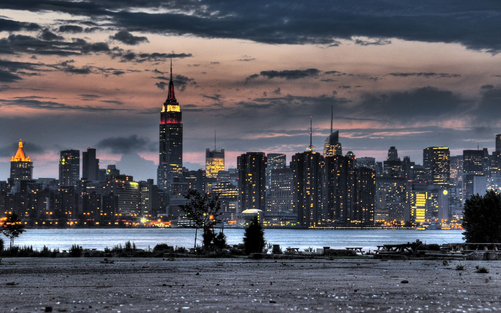 background of Empire State Building, New York