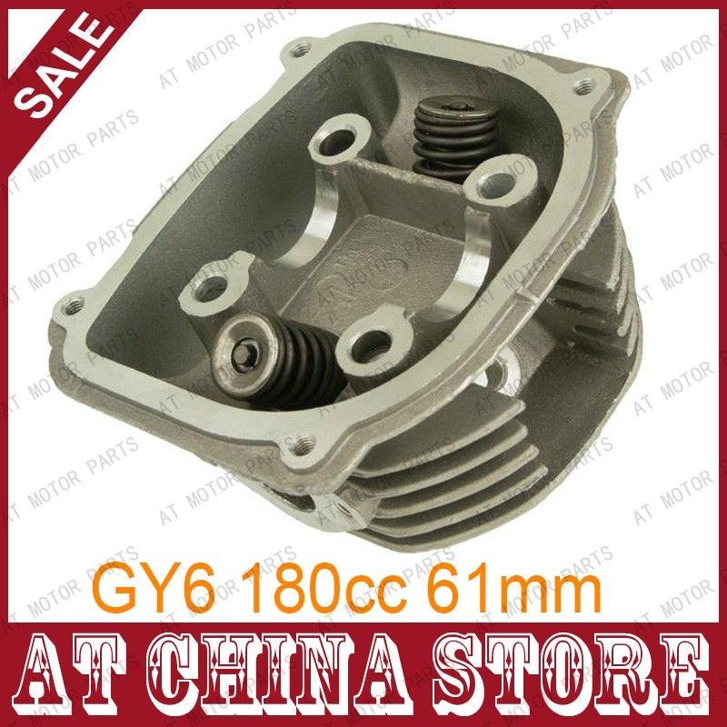 GY6 180cc Chinese Scooter Engine 61mm High Performance Cylinder Head