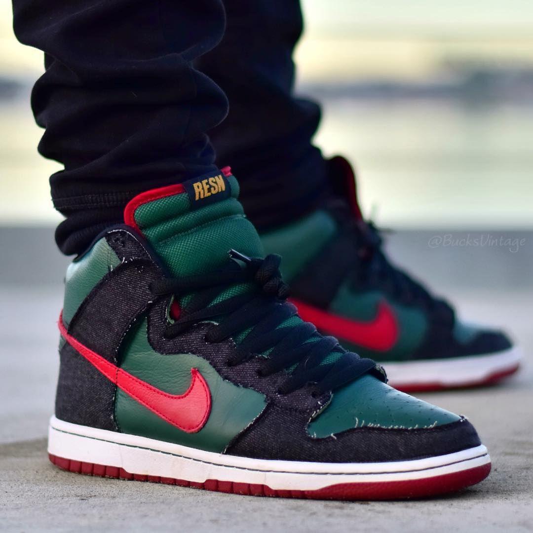 buy online 58ddd f2ad3 RESN x Nike Dunk High Premium SB